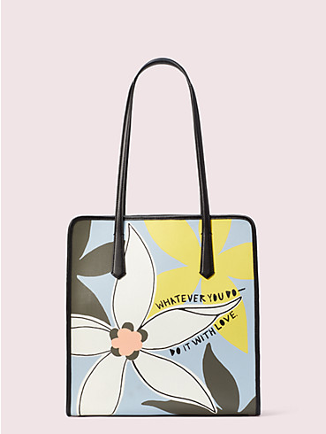 cleo wade x kate spade new york floral tote, , rr_productgrid