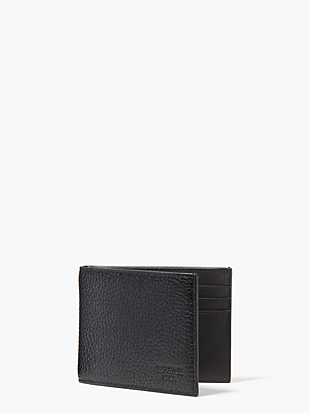 pebbled leather slim billfold by kate spade new york non-hover view