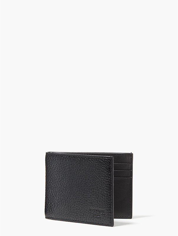 pebbled leather slim billfold, , rr_large