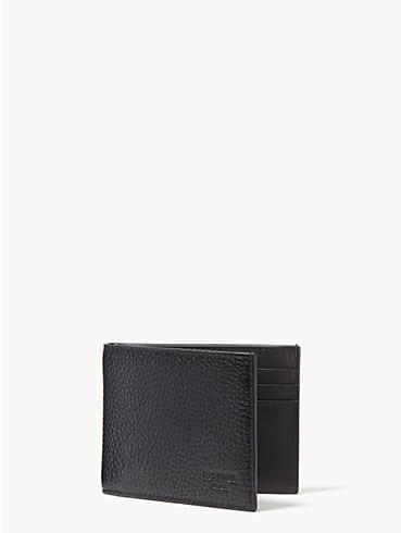 Schmale Brieftasche aus strukturiertem Leder, , rr_productgrid