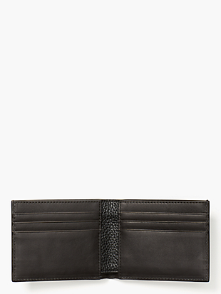 pebbled leather slim billfold by kate spade new york hover view