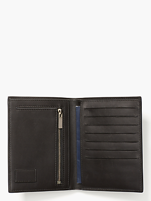 pebbled leather travel wallet by kate spade new york hover view