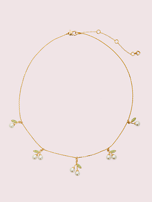 cherie cherry scatter necklace by kate spade new york non-hover view