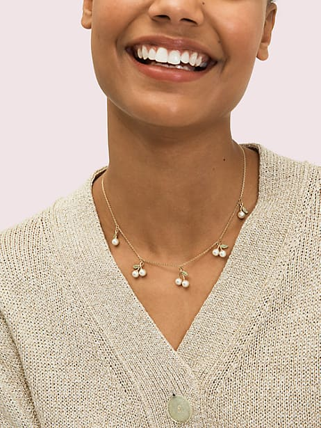 Cherie cherry scatter necklace | Kate Spade New York