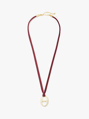duo link resin pendant by kate spade new york hover view