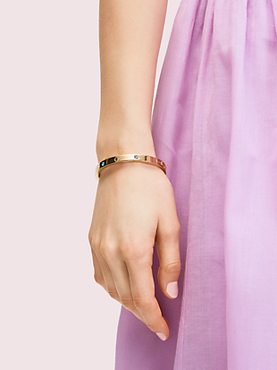 infinite spade engraved spade bangle by kate spade new york hover view