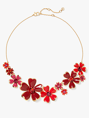 blushing blooms statement necklace by kate spade new york non-hover view
