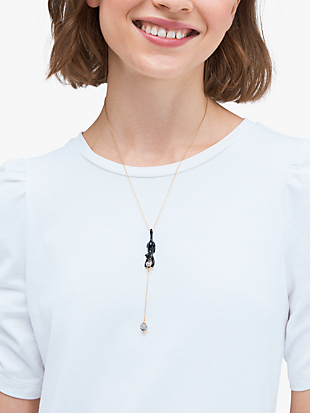 house cat y necklace by kate spade new york hover view