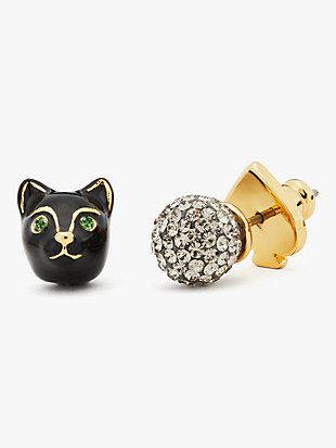 house cat asymmetrical studs by kate spade new york non-hover view
