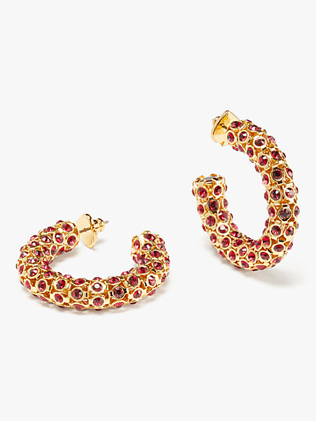adore-ables hoops, ruby, large by kate spade new york