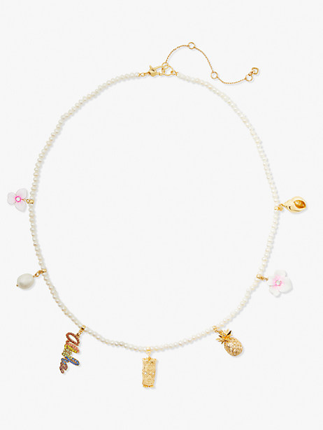 aloha pearl charm necklace by kate spade new york