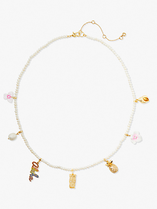 aloha pearl charm necklace by kate spade new york non-hover view