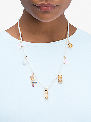 aloha pearl charm necklace by kate spade new york hover view