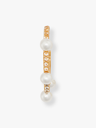 slender scallops pearl huggies by kate spade new york hover view