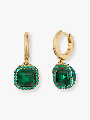brilliant statements pavé drop earrings by kate spade new york non-hover view