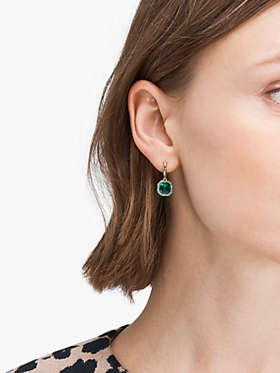 brilliant statements pavé drop earrings by kate spade new york hover view