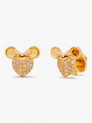disney x kate spade new york minnie mouse pavé studs , , rr_productgrid
