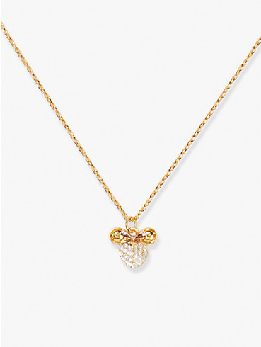disney x kate spade new york minnie mouse pavé pendant, , rr_productgrid