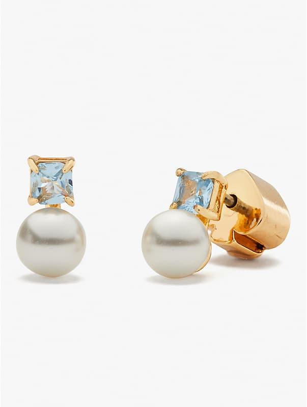 little gem pearl & stone mini studs, , rr_large