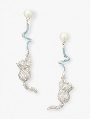 pretty kitty pavé linear earrings, , rr_productgrid