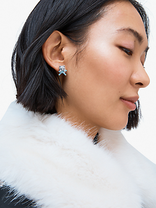 pretty kitty pavé studs by kate spade new york hover view