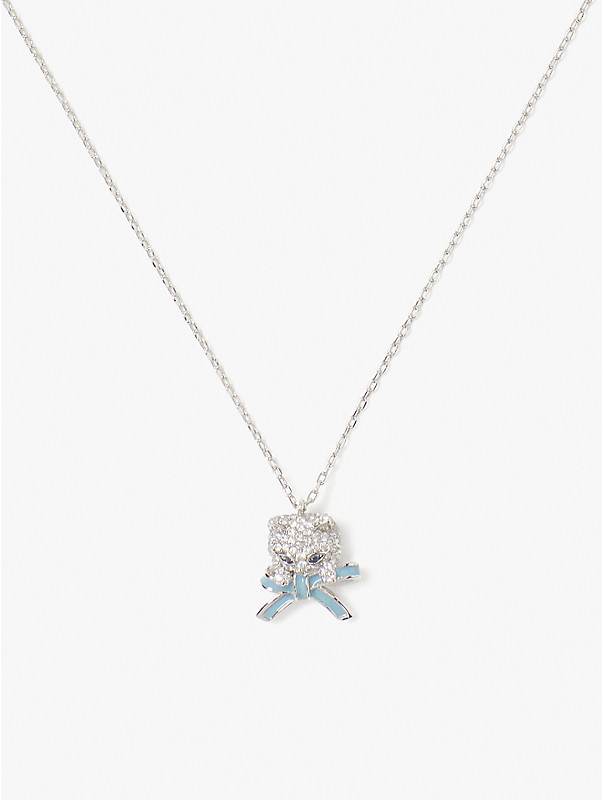 pretty kitty pavé mini pendant, , rr_large