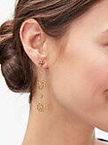 spade floral linear earrings, , s7productThumbnail