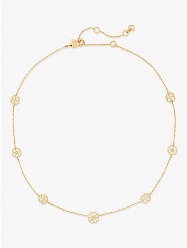 spade floral long scatter necklace, , rr_productgrid
