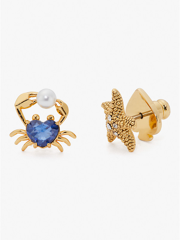 sea star starfish and crab studs, , rr_large