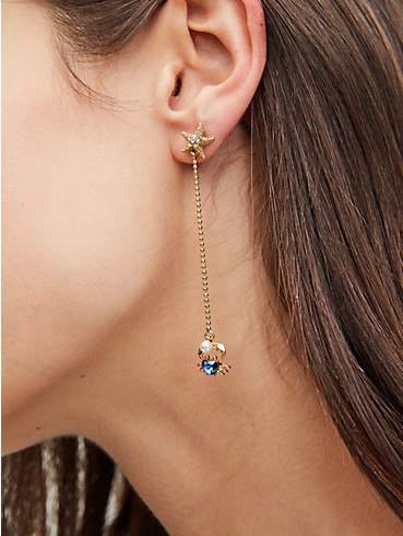 sea star crab linear earrings, , rr_productgrid