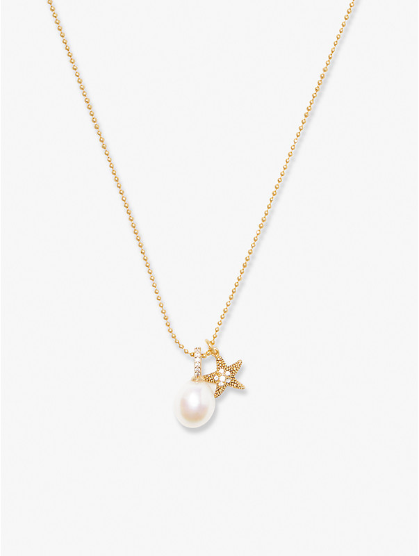 sea star starfish pearl charm pendant, , rr_large