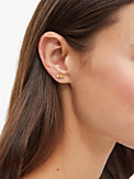 love you, mom queen bee asymmetrical studs, , s7productThumbnail