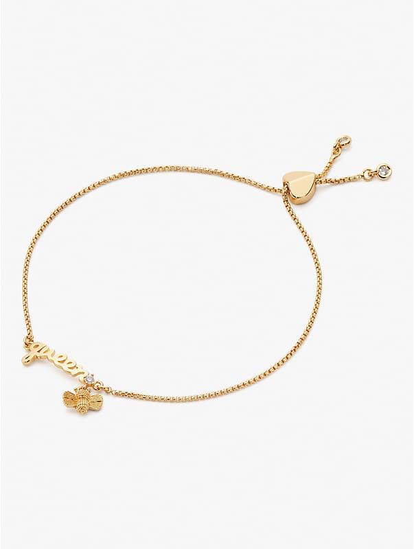 love you, mom queen bee slider bracelet, , rr_large