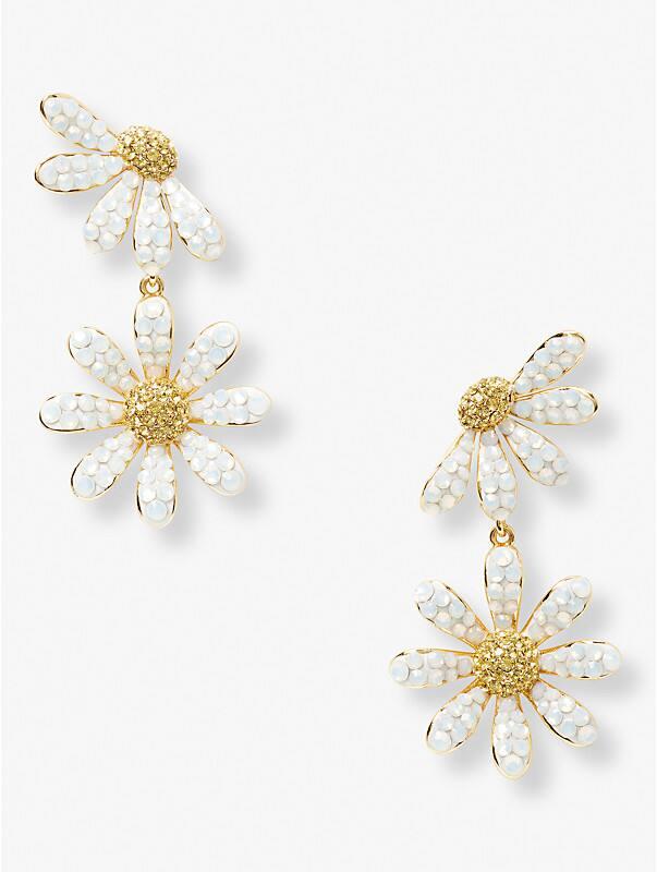 dazzling daisy drop earrings, , rr_large