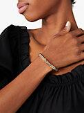 heritage spade flower metal thin hinged bangle, , s7productThumbnail