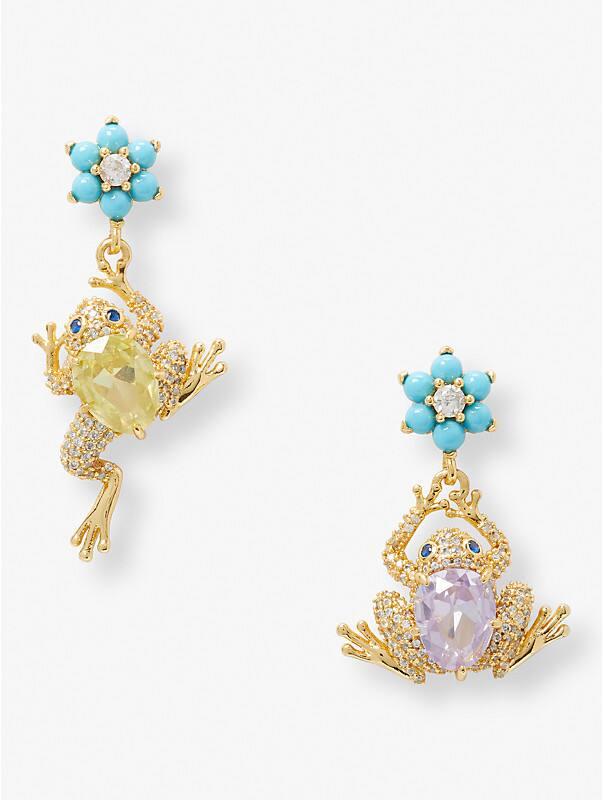nature walk frog drop earrings, , rr_large