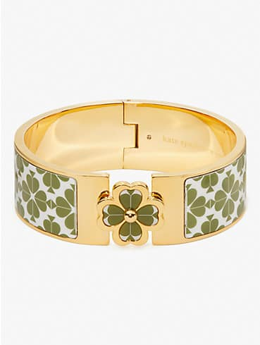heritage spade flower wide hinged bangle, , rr_productgrid