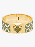 heritage spade flower wide hinged bangle, , s7productThumbnail