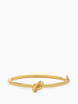 sailor's knot hinge bangle, gold, medium