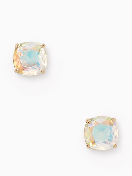 kate spade small square studs, ab, large by kate spade new york