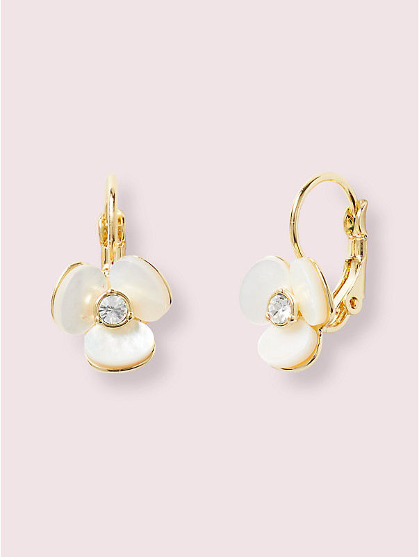 disco pansy leverback earrings, , rr_large