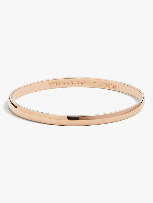 stop and smell the roses idiom bangle, , rr_large