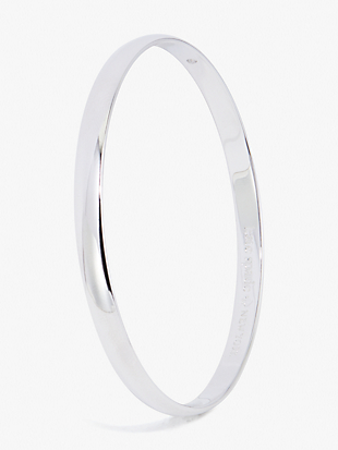 silver lining idiom bangle by kate spade new york non-hover view