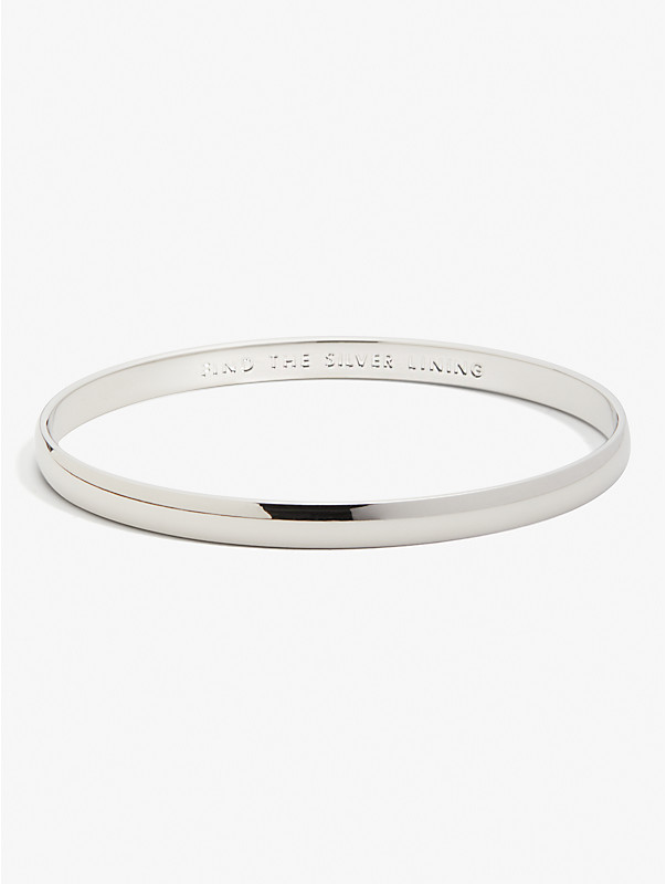 find the silver lining idiom bangle, , rr_large