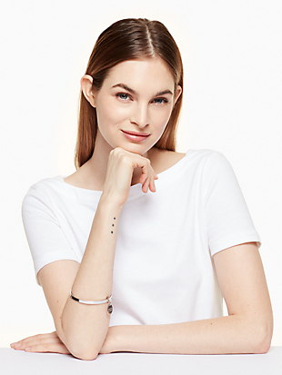 say yes scalloped partners in crime bangle by kate spade new york hover view