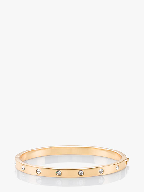 METAL STONE HINGED BANGLE by kate spade new york