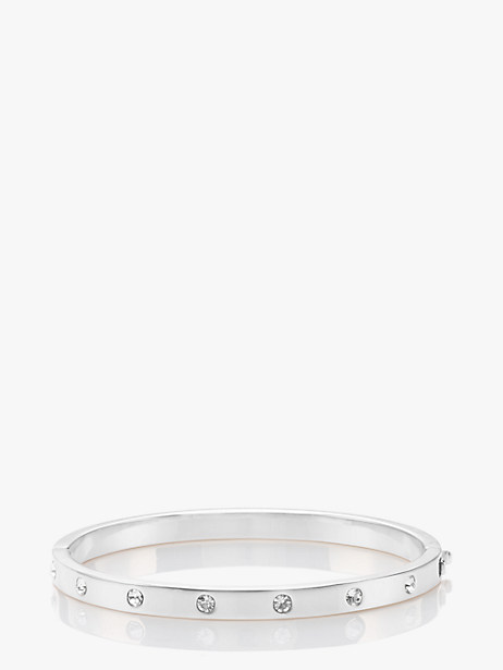 set in stone hinged bangle by kate spade new york