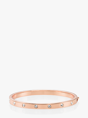 METAL STONE HINGED BANGLE by kate spade new york non-hover view