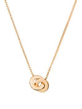infinity & beyond infinity mini pendant, clear/gold, medium