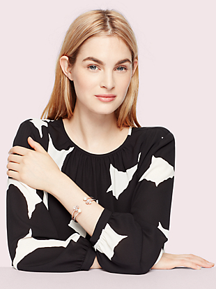 disco pansy double cuff by kate spade new york hover view
